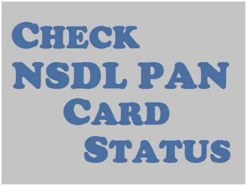 check nsdl pan status