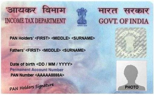 pan card application details