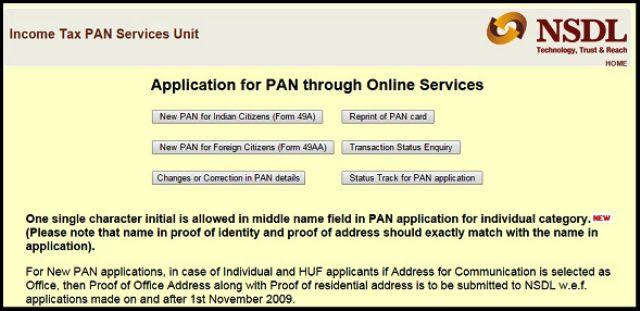 Reprint Pan Card Online Nsdl Infocard Co